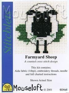 Mouseloft Farmyard Sheep Stitchlets cross stitch kit
